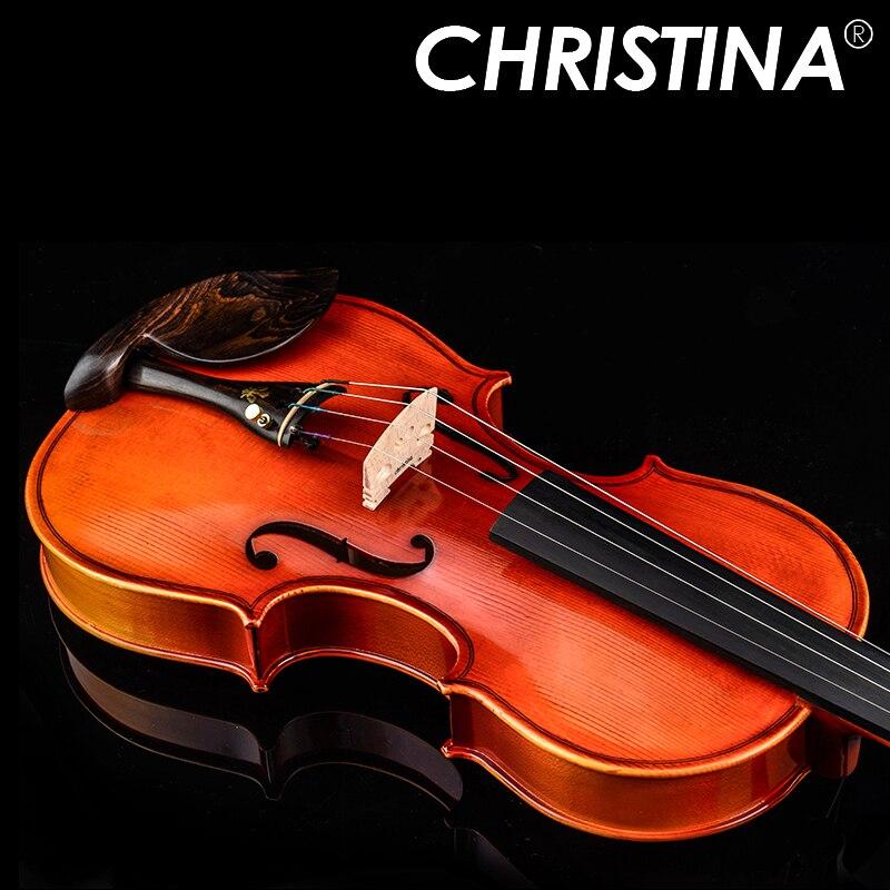 Кристина Скрипки ручной работы V04 Античная клен Скрипки 4/4 музыкальный инструмент со скрипкой случае Скрипки лук и канифоли