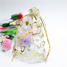 100pcs/lot 17x23cm Colorful Drawstring Organza Silk Bags Candy & Pouches Wedding Christmas Gift Jewelry Bag