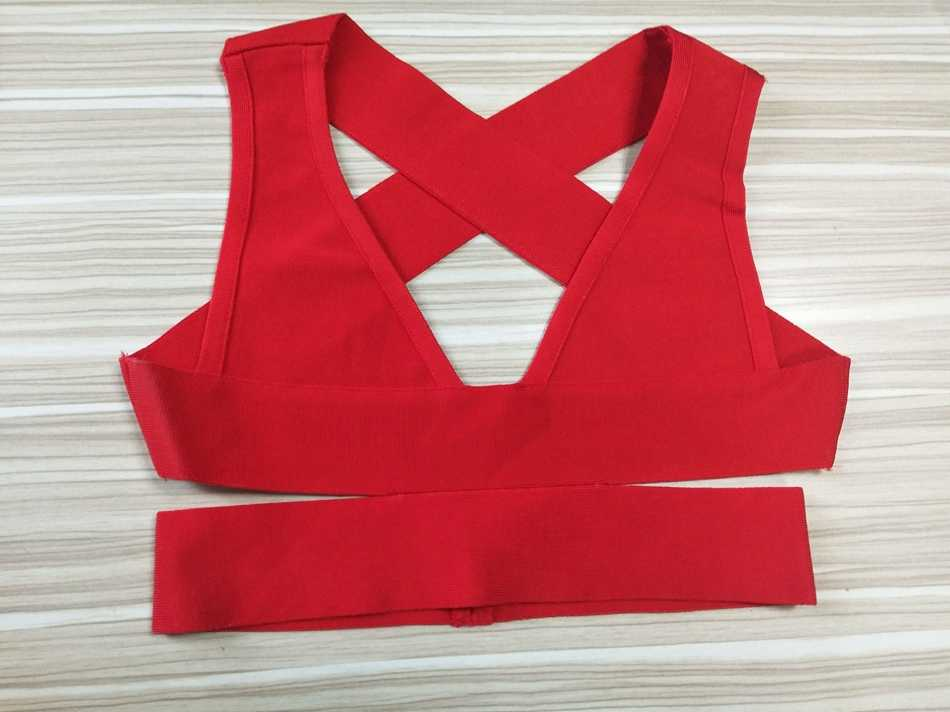 Zomer Vrouwen Bandage Tank Crop Top Zwart Rood Fashion Casual Sexy Hollow Out Dames Mouwloze Celebrity Party Korte Tops