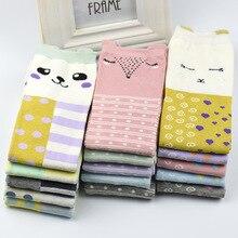 New Arrival Cute Cartoon Autumn Winter Women's Fashion Cotton Socks Soft Breathable Female Colorful Socks Hosiery 1Lot/5Pairs