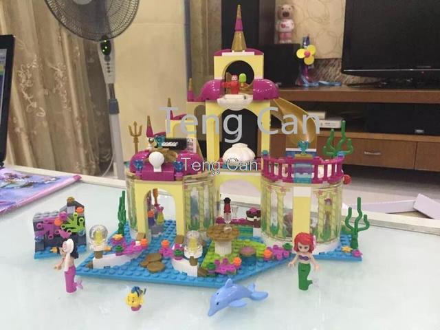 2016 Nueva SY374 400 Unids Princesa Palacio Submarino Kits de Edificio Modelo minis Bloques de Ladrillos de Juguete de Regalo Chica brinquedos