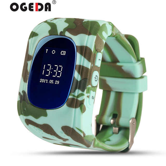 Children Smart Watch Passometer LED Safety warning Baby Watch GPS Second Generation Chip SOS Call Location Finder OGEDA 2018