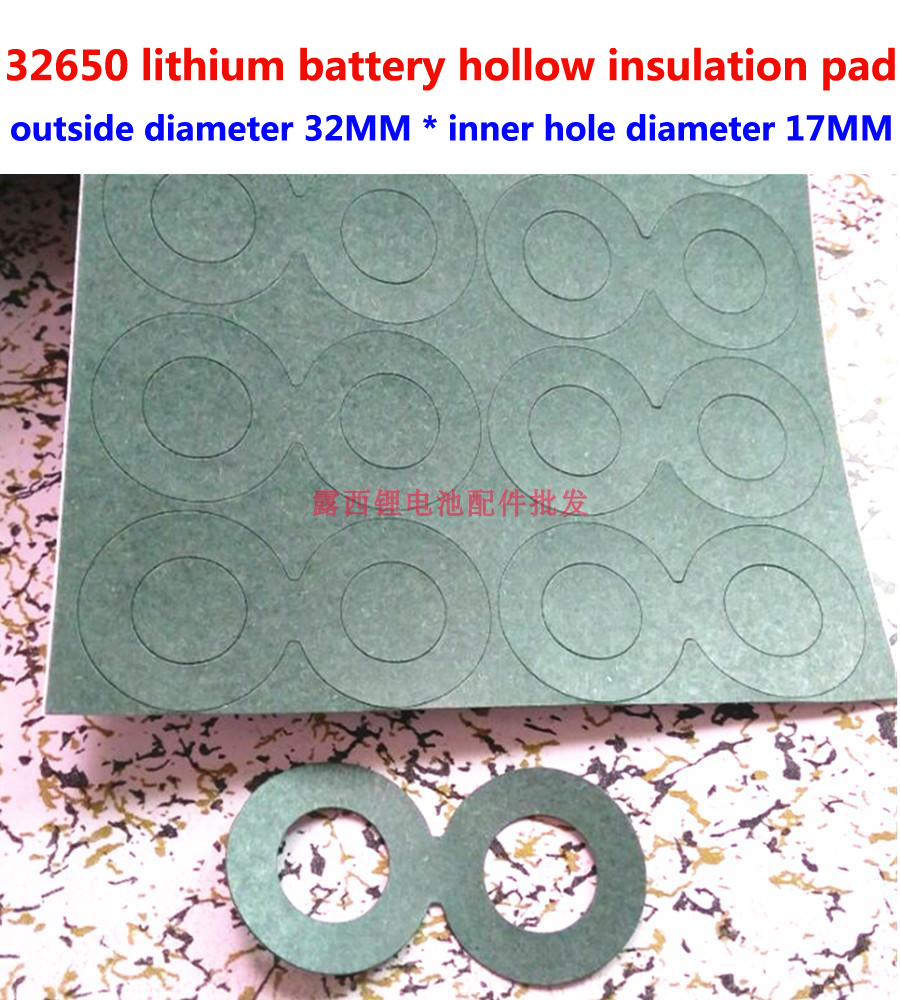 25 pcs/lot 2 S 32650 batterie au lithium électrode positive tête plate creuse joint isolant 1 batterie creuse tête plate meson