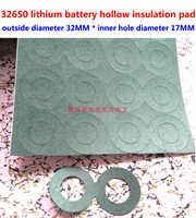 25 unids/lote 2 S 32650 batería de litio electrodo positivo Junta aislante cabeza plana hueca 1 Batería hueco cabeza plana meson