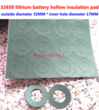 25pcs/lot 2S 32650 lithium battery positive electrode hollow flat head insulating gasket 1 meson
