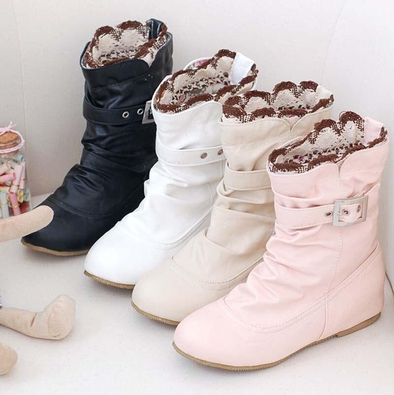 ce5c3a936 NewWomen بو حذاء من الجلد SpringAutumn الراحة الأحذية حذاء من الجلد أزياء  النساء الأحذية مشبك حذاء مسطح فتاة أحذية منصة