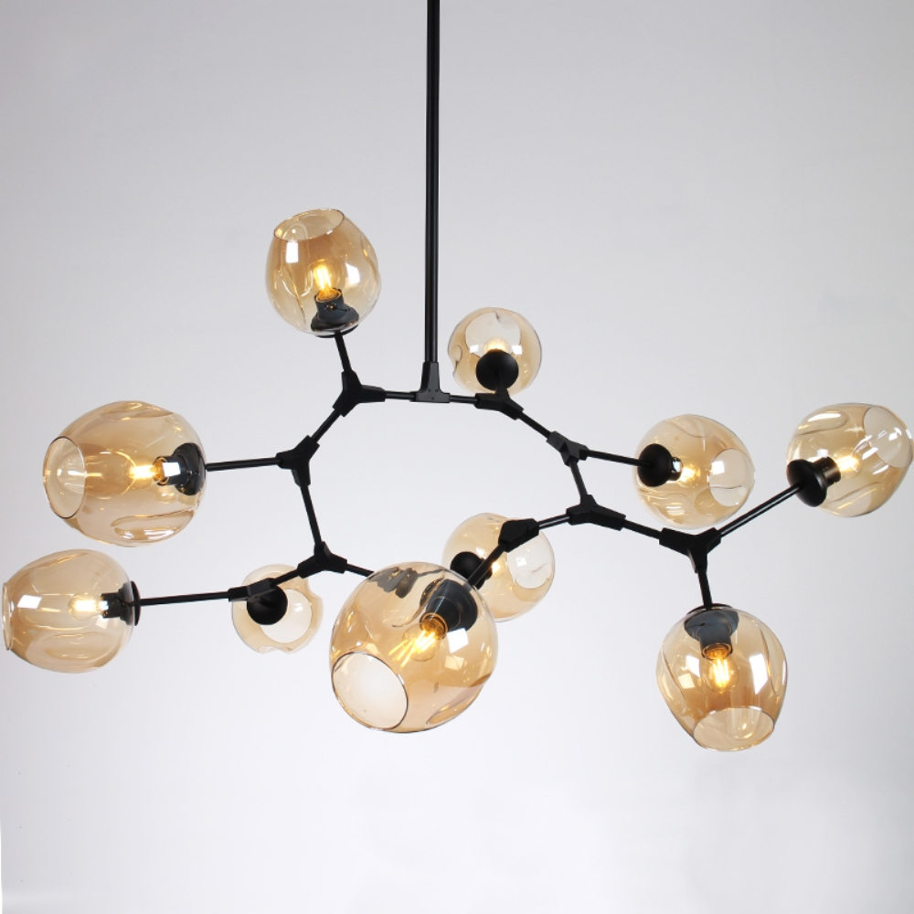 Black Gold Simple Creative Vintage Industrial Pendant Lights Loft Bar Living Room Dining Room Glass Shade Pendant Lamp Fixtures edison inustrial loft vintage amber glass basin pendant lights lamp for cafe bar hall bedroom club dining room droplight decor