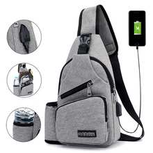 Large Capacity Chest Bag Casual Crossbody Bag Mens Travel US