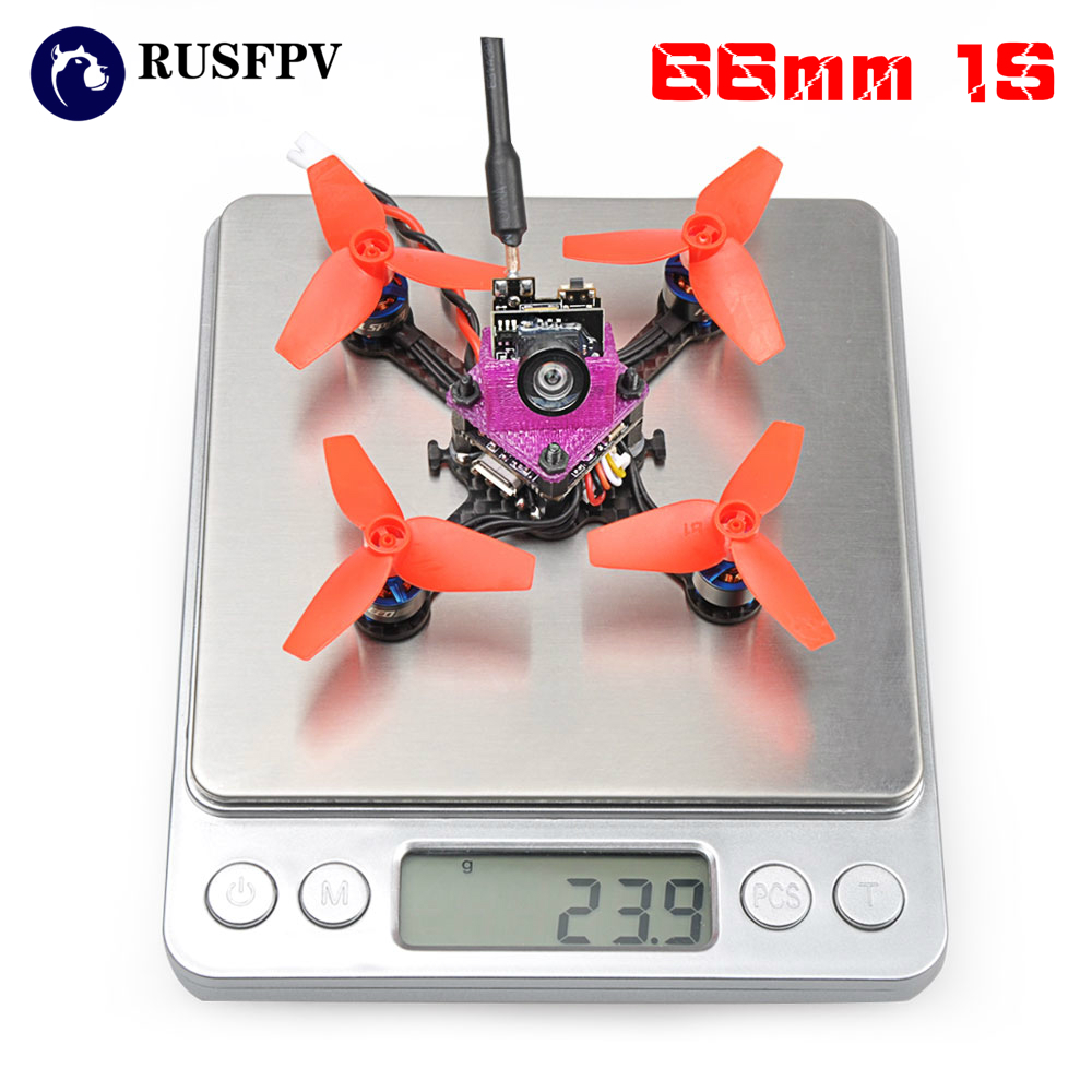 цены FSD Beebee-66 LITE Omnibus F3 OSD 5.8G 40CH 4 In 1 6A Blheli_S ESC 1S Micro Indoor FPV Racing Drone ARF