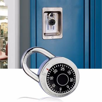 Obrotowa kłódka kombinacja cyfr zamek szyfrowy bezpieczna okrągła tarcza numer walizka bagażowa bezpieczeństwo rowerowa walizka do szafki do szuflady tanie i dobre opinie Combination Padlock Zamek okno About 70*45mm Brand new and genuine aluminum alloy + zinc alloy Coded Lock Silver + Black