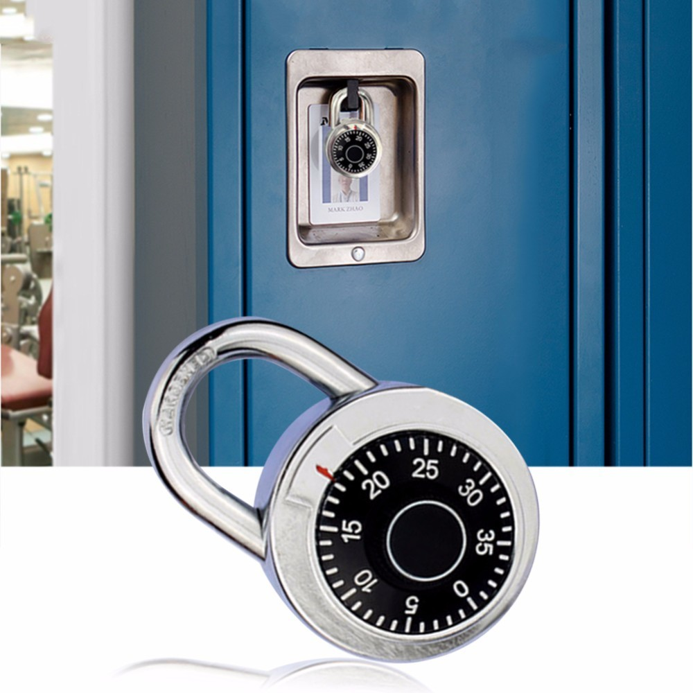 Rotary Padlock Digit Combination Code Lock Safe Round Dial Number Luggage Suitcase Security Bicycle Suitcase Drawer Cabinet long 4 digit number code dial combination padlock security safety lock