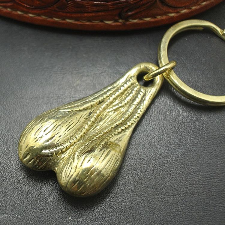 1pc Vintage Retro Punk Anti Bronze Men Keyring Keychain Keyfob Belt Key Holder