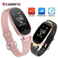 LEMFO Smart Wristbands IP68 Waterproof Fitness Bracelet Heart Rate Monitor Fitness Bracelet Female Lady Wrist Watch