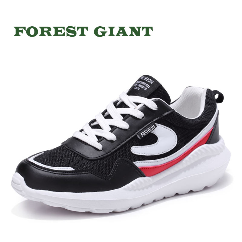 FOREST GIANT Men Shoes Big Size Spring Autumn Sneakers Breathable Casual Shoes Fashion Lace up Men Sneakers Mesh Flat Shoes 5881 стоимость