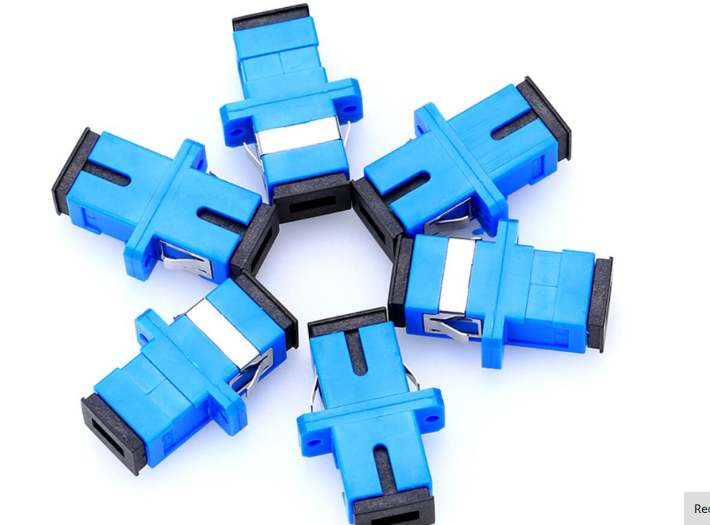 50PCS/bag SC UPC Simplex Mode Fiber Optic Adapter SC Optical Fiber Coupler SC Fiber Flange  Free Shipping