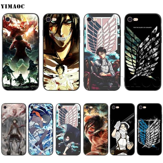 Attack On Titan Silicone Soft Case Cover for iPhone
