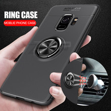 Luxury Magnetic Ring Stand Case For Samsung