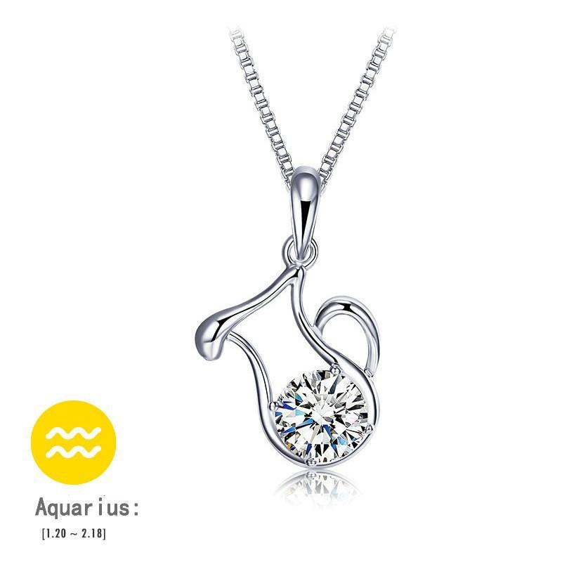 12-Constellation-Silver-Zircon-Choker-Necklace-Pendants-Women-Fashion-Gros-Collier-Femme-2015-New-Design-Summer