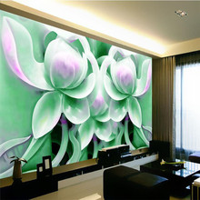 beibehang Large Painting Home Decor Relief green flowers Hotel Background Modern Mural for Living Room  De Pared 3d Wallpaper