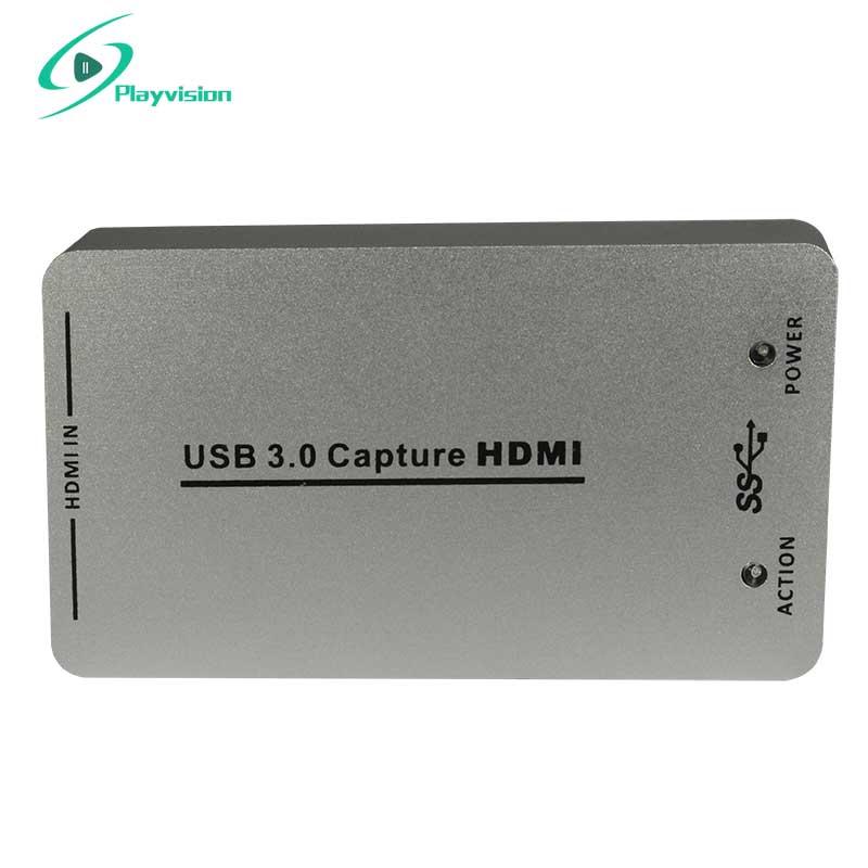 Hdmi para USB 3.0 Captura De Vídeo Captura de sinal Dongle compatível com Windows Linux Mac OSX HD 1080 P Para PS3 XBo