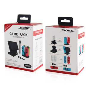 Image 5 - For Nintendo Switch Console Game Pack Kit With Charging Dock Folding Stand TPU Case Charge Cable TNS 18115