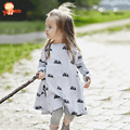 2016 New Casual Girls Dresses Cute Cartoon Mouse Girls Clothing Autumn&Spring Style Children Dresses Kids Clothes