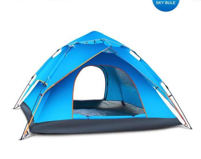 4 человека 240x210x135 см двухслойная большая кемпинговая палатка зонтик тип Открытый G4 автоматическая палатка с гидравлическим механизмом раскладывания