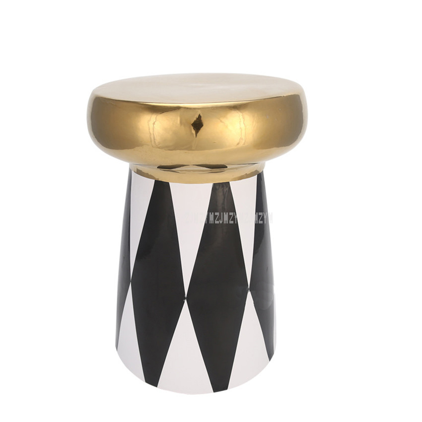 Modern 45cm Height Chinese Ceramic Drum Stool Low Decoration Cosmetic Stool Living Room Hotel Shopping Mall Drum Leisure Stool