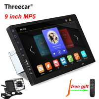 9 Touch Mirrorlink iphone Auto audio Player Bluetooth USB Rear View Camera car radio MP5 Player One Din Autoradio No Android