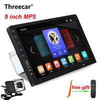 """9 """"Touch Mirrorlink iphone reproductor de audio automático Bluetooth USB cámara de visión trasera coche radio reproductor MP5 un Din Autoradio No Android"""