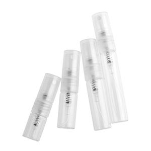 Image 5 - 100 peças/lote 1ml 2ml 3ml 5ml mini frasco de vidro do pulverizador do perfume garrafas vazias recarregáveis recipientes cosméticos garrafa de pulverizador portátil