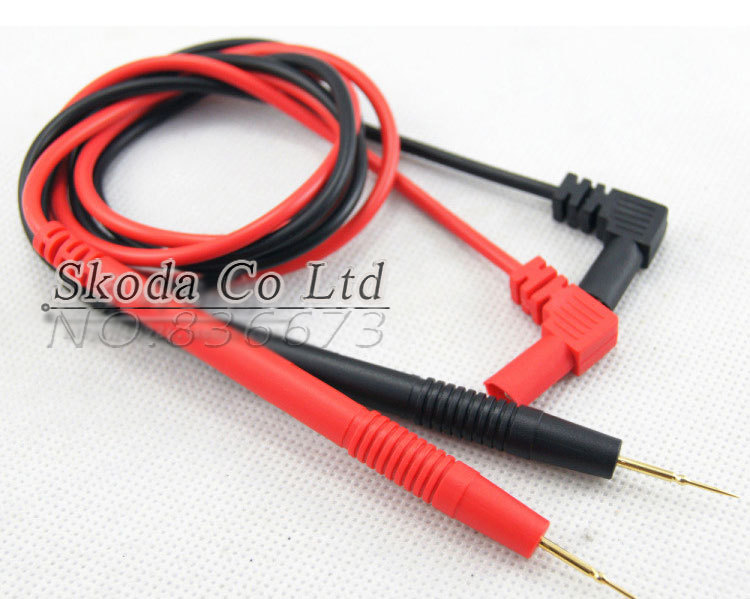 Free shipping digital multimeter Probe Test Lead 1000V 10A for multimeter test circuit detects multimeter Probe multimeter tweezer capacitor resistance test lead probe for smd chip smt testing