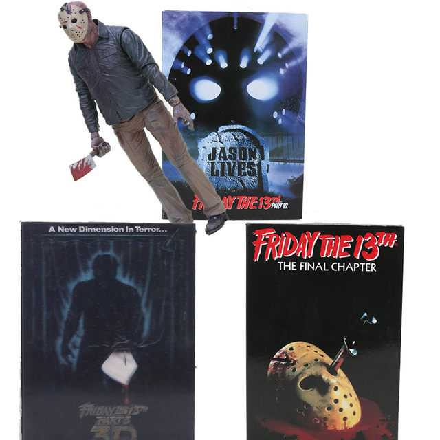 NECA Jason Voorhees Friday the 13th O Capítulo Final do jogo 3D Freddy VS Jason PVC Figure Toy Collectible 18 cm
