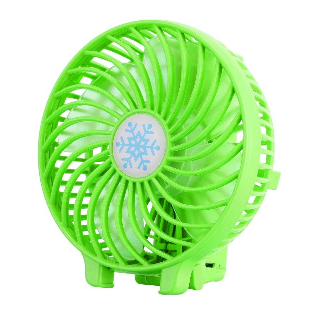 ELEGENCE-Z Folding Mini Fan USB Handheld Portable Desktop Fan Student Outdoor Home Good Partner,Green