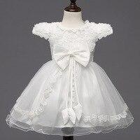 Korean Summer Rose Wedding Dress Princess Quality Virgin Girls Small Bowknot Dress