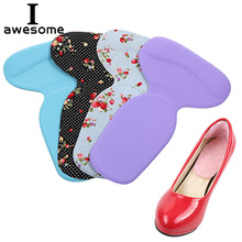 T-Shape Self-Adhesive Silicone Heel Heel Pad Insert Arch Support Heel Protector Gel Feet Care Insoles Cushion For Shoes Pads 1 pair silicone gel heel liner grips arch support for women high heels shoes foot pads self adhesive cushion insoles pad inserts