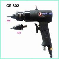 Высокое качество тайвань GE 802 M5 M6 пневматический заклепки пистолет тянуть гайка самоблокирующиеся пневматические тянуть крышка пистолет п