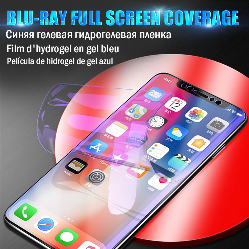 15D Hydrogel Film For iPhone 7 8 6 6S Plus XR X XS Max Soft Screen Protector For iPhone XR X XS  Max 8 7 6S 6 Film Not Glass