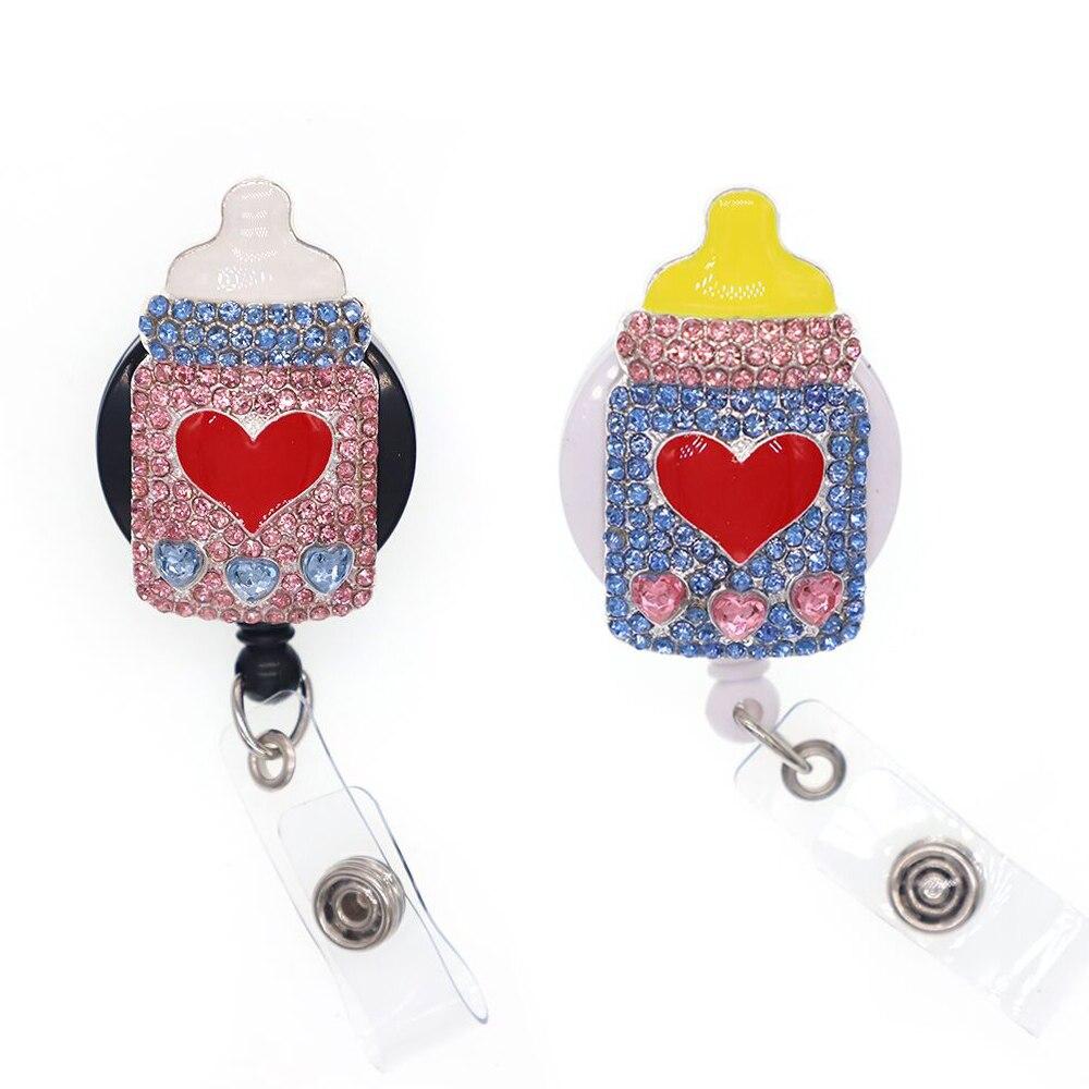 Nouveauté médical médecin infirmière bébé porte-bouteille Badge bleu bouteille de soins infirmiers Badge bobine pour les infirmières jour cadeau
