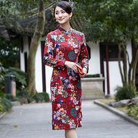 New Arrival Summer Chinese Style Dress Women S Cheongsam Linen Cotton Qipao Knee Length Clothing Size