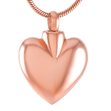 Stainless Steel Blank Heart Cremation Jewelry Pendant Ashes Urn Memorial Necklace Keepsake IJD9692