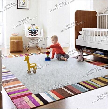 Стильный, современной гостиной журнальный столик цвет полосатый диван-кровать спальня ковер пользовательские ручной акриловые ковер