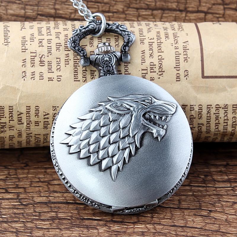 Classic Bronze Game of Thrones Stark Winterfell Wolf Locket Quartz - Lommeur - Foto 5