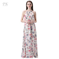 PK Floral Print Summer Maxi Beach Dresses Party Collar Sexy Club Sundress Imported China Summer 2017