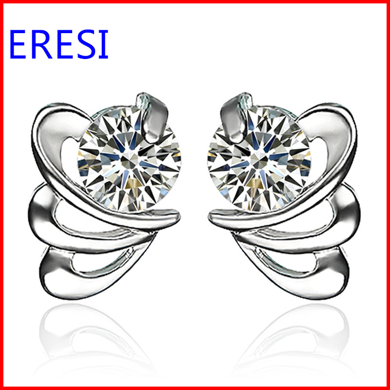 Wholesale High Quality Zircon Silver Earring In Two Colors Cheap Price for Promotion Gifts Fashion Jewelry