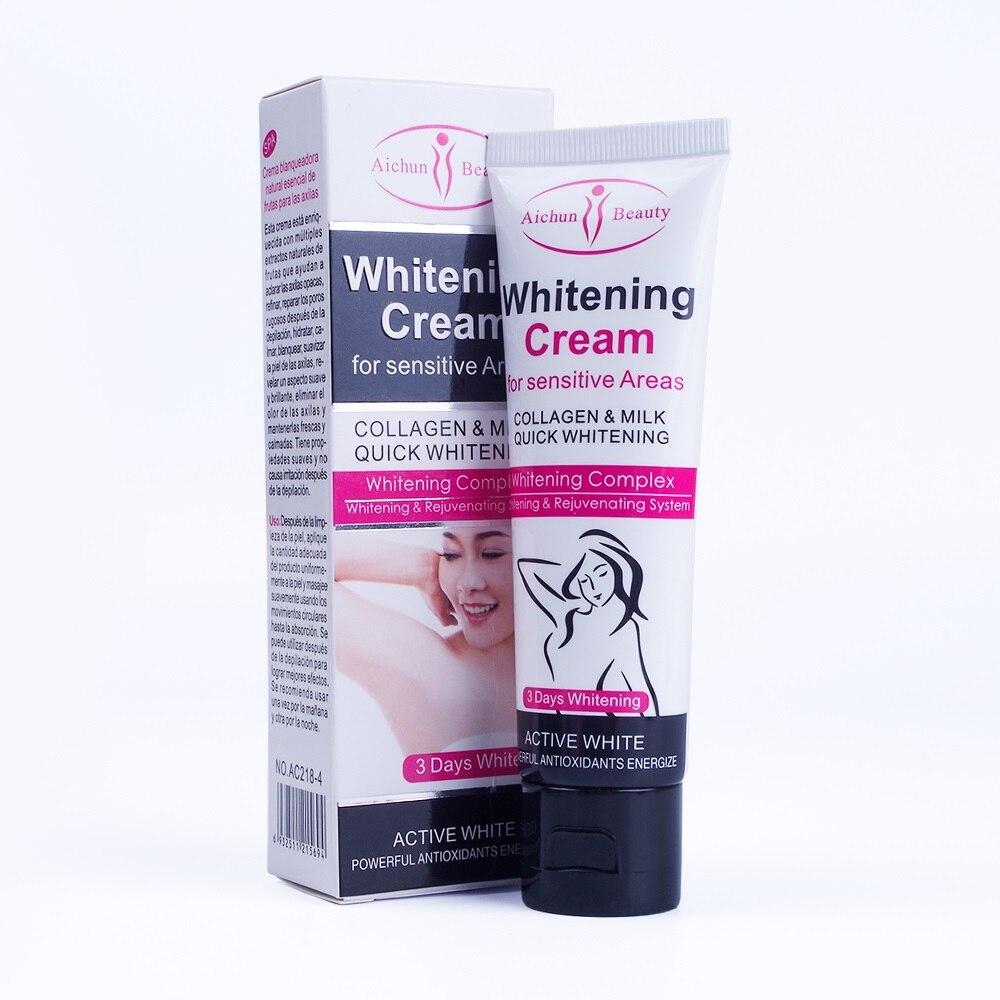 Scrubs & Bodys Treatments Bath & Shower 2019 New Style 50ml Armpit Whitening Cream Between Legs Knees Private Parts Underarm Whitening Formula Armpit Whitener Beauty Body Cream