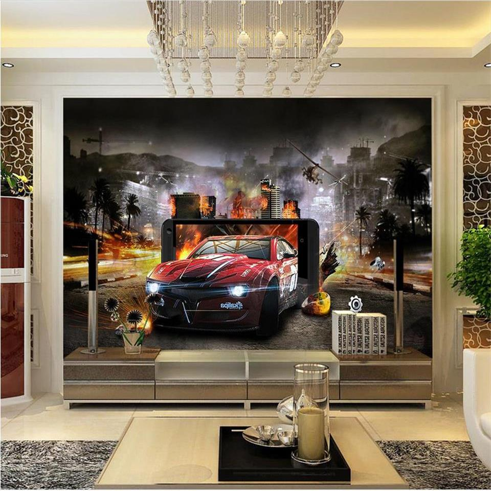 3d wallpaper custom photo mural living room kids blast automobile 3d painting sofa TV background non-woven wallpaper for wall 3d custom 3d photo wallpaper natural mural waterfalls pastoral style 3d non woven straw paper wall papers living room sofa backdrop
