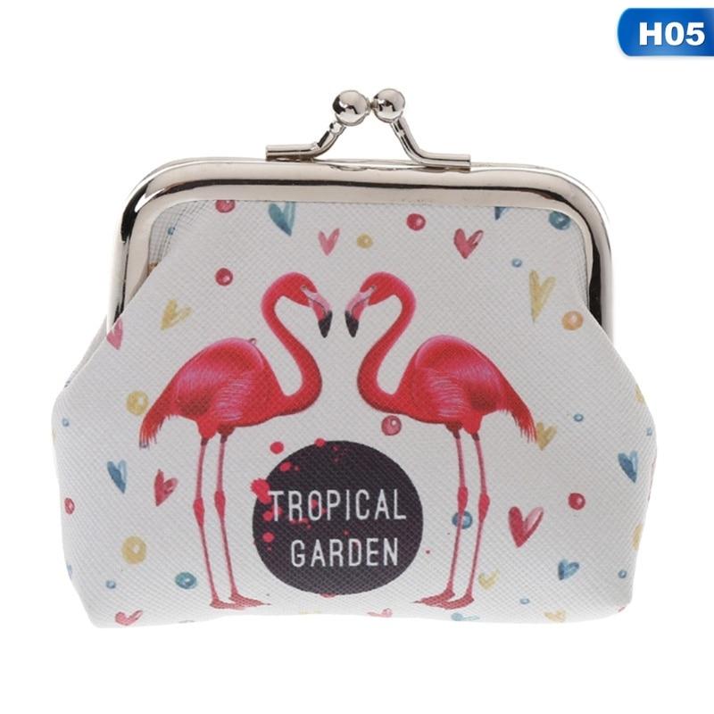 New Design Women Wallet Cartoon Pattern Flamingo Coin Purse Card Bag Headset Case Wallet Women Cute leisure platform and cartoon pattern design slippers for women