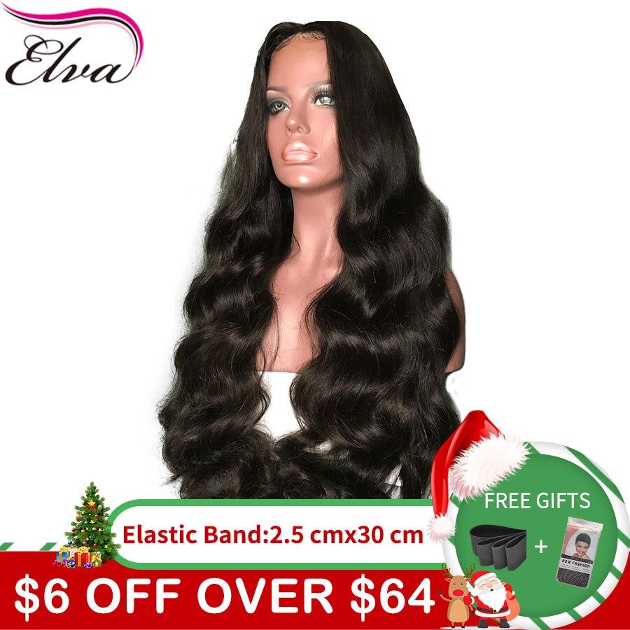 Elva ВОЛОС 13*6 150% плотность средства ухода за кожей волна синтетические волосы на кружеве натуральные волосы Искусственные парики для женщин ...