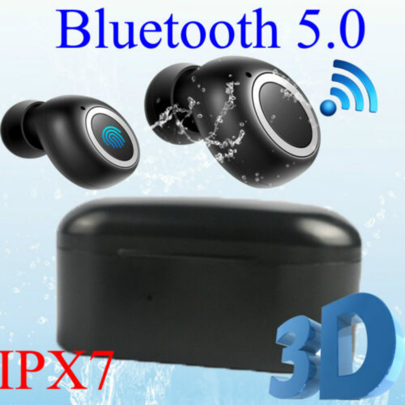 Bluetooth 5.0 Sports IPX7 Earphone Wireless Headsets Headphone Earbuds Stereo